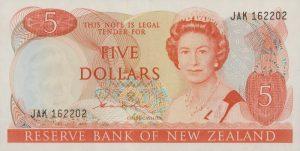 5 dolarów nowozelandzkich