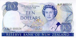 10 dolarów nowozelandzkich