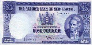 5 funtów nowozelandzkich