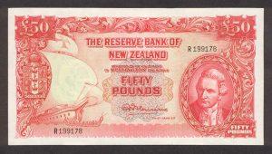 50 funtów nowozelandzkich