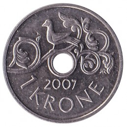 1 korona norweska