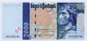 2000 escudo portugalskich - banknot 2