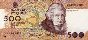 500 escudo portugalskich - banknot 2