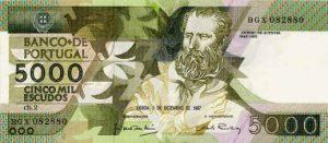 5000 escudo portugalskich