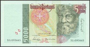 5000 escudo portugalskich - banknot 2