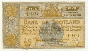 5 funtów szkockich - banknot 5