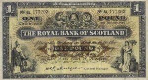 1 funt szkocki - banknot 9