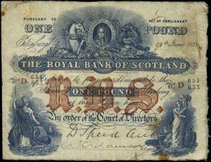 1 funt szkocki - banknot 14