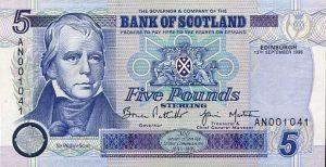 5 funtów szkockich