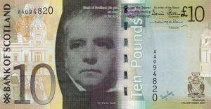 10 funtów szkockich - banknot 10