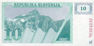 10 talarów słoweńskich - banknot 2