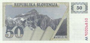 50 talarów słoweńskich - banknot 2