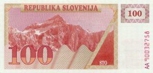 100 talarów słoweńskich - banknot 2