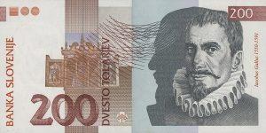 200 talarów słoweńskich