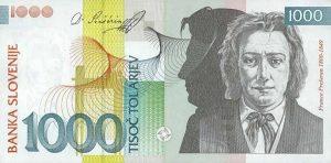 1000 talarów słoweńskich
