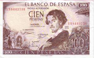 100 peset hiszpańskich - banknot 2