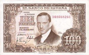 100 peset hiszpańskich - banknot 3