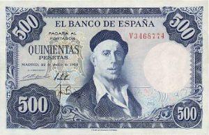 500 peset hiszpańskich - banknot 3
