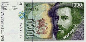 1000 peset hiszpańskich