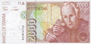 2000 peset hiszpańskich