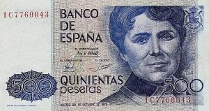 500 peset hiszpańskich