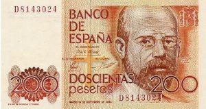 200 peset hiszpańskich