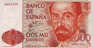 2000 peset hiszpańskich - banknot 2
