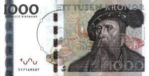 1000 koron szwedzkich