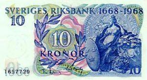 10 koron szwedzkich