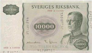 10000 koron szwedzkich