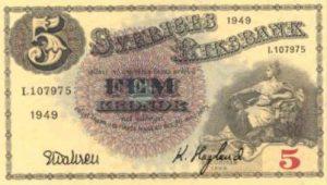 5 koron szwedzkich