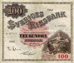 100 koron szwedzkich