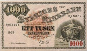 1000 koron szwedzkich - banknot 2