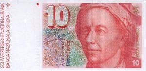 10 franków szwajcarskich - banknot 2