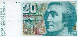 20 franków szwajcarskich - banknot 2