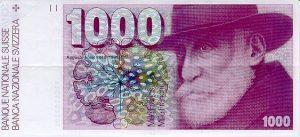 1000 franków szwajacarskich - banknot 2