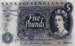 5 funtów brytyjskich - banknot 2