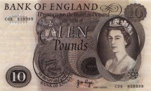 10 funtów brytyjskich - banknot 2