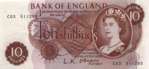 10 szylingów brytyjskich