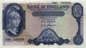 5 funtów brytyjskich - banknot 3