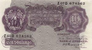 10 szylingów brytyjskich - banknot 2