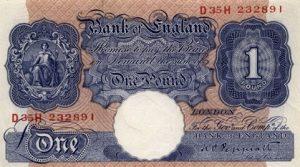 1 funt brytyjski - banknot 2