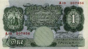 1 funt brytyjski - banknot 3