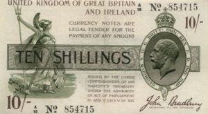 10 szylingów brytyjskich - banknot 4