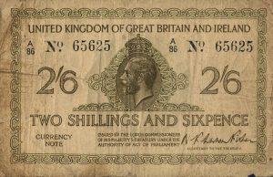 2 szylingi i 6 pensów brytyjskich