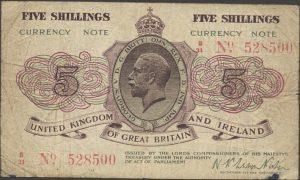 5 szylingów brytyjskich