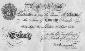 20 funtów brytyjskich - banknot 2