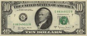 10 dolarów amerykańskich - banknot 3