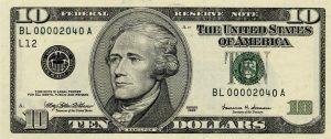 10 dolarów amerykańskich - banknot 2