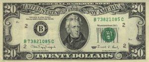 20 dolarów amerykańskich - banknot 2